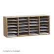 Safco Wood Adjustable Literature Organizer, 24 Compartment 9423MO (Medium Oak) ES3841