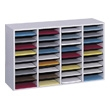 Safco Wood Adjustable Literature Organizer, 36 Compartment 9424GR (Gray) ES3842