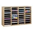 Safco Wood Adjustable Literature Organizer, 36 Compartment 9424MO (Medium Oak) ES3843