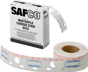 "Safco 2-1/2"" W Polyester Carrier Strips for MasterFile2 6553 ES417"