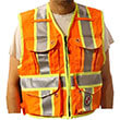 Safety Apparel PC15X - Heavy Duty X-Back Party Chief Survey Vest - Safety Orange (6 Sizes Available) ES7941