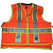 Safety Apparel SVX - Light Duty X-Back Summer Vest - Safety Orange (4 Sizes Available) ES7944