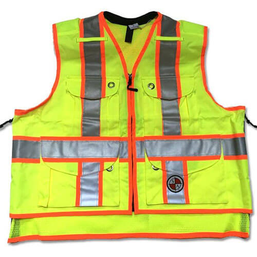 Safety Apparel SVX - Light Duty X-Back Summer Vest - Power Yellow