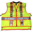 Safety Apparel SVX - Light Duty X-Back Summer Vest - Power Yellow (6 Sizes Available) ES7945