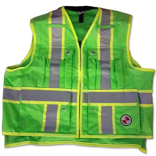 Safety Apparel Svx Light Duty X Back Summer Vest Lime