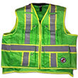 Safety Apparel SVX - Light Duty X-Back Summer Vest - Lime Green (4 Sizes Available) ES7946