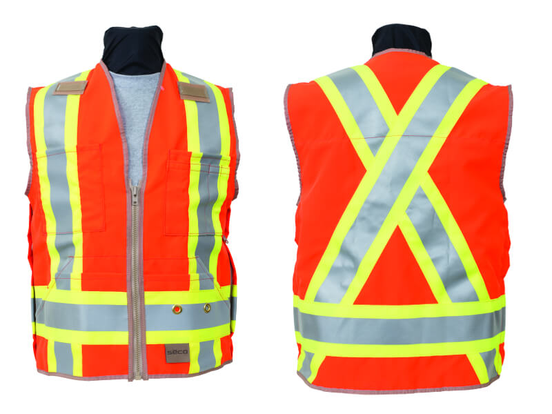 Seco 8266 Series Class 2 and Canadian CSA-Z96 Safety Vest (2 Colors Available) ES4611
