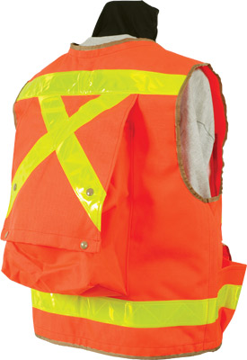 Back of the Seco 8067 Series Heavy-Duty Safety Vest