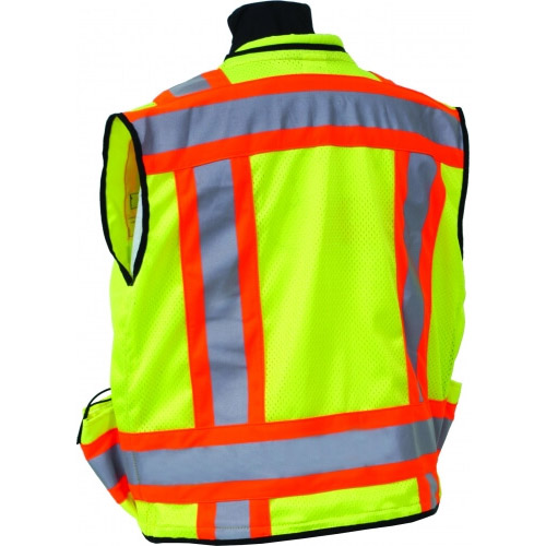 Seco 8265 Series Class 2 Safety Vest with Outlast Collar and Mesh Back (2 Colors Available) ES2604