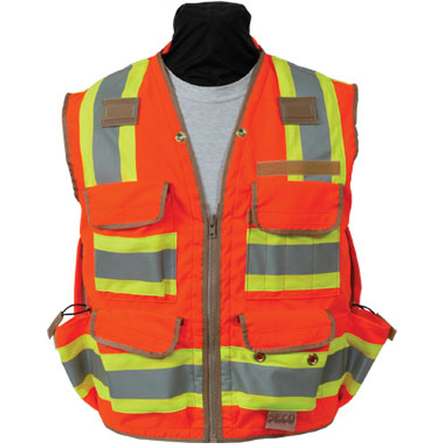 Seco 8265 Series Class 2 Safety Vest with Outlast Collar and Mesh Back