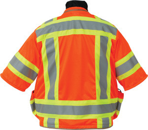 Seco 8365 Series Class 3 Safety Vest with Outlast Collar and Mesh Back