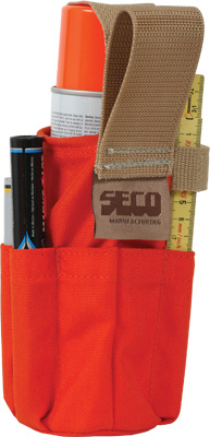 Seco Spray Can Holder with Pockets 8098-10-ORG ES2655