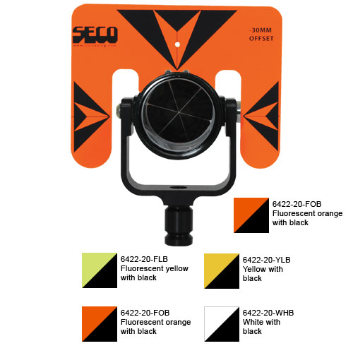 Seco Rear Locking 62 mm Premier Prism Assembly with 5.5 x 7 Target (4 Colors Available)