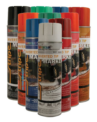 Seymour Stripe Water Based Marking Paint 12 Pack - 20oz Cans (15 Colors Available)