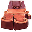 SitePro SiteGear 3-Pouch Pro Leather Tool Bag with Tape Holder - 51-15018-DB ES9663