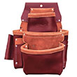 SitePro SiteGear 3-Pouch Pro Leather Fastener Bag with Holders - 51-15060 ES9664
