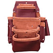SitePro SiteGear 4-Pouch Pro Leather Fastener Bag with Holders - 51-15062 ES9665