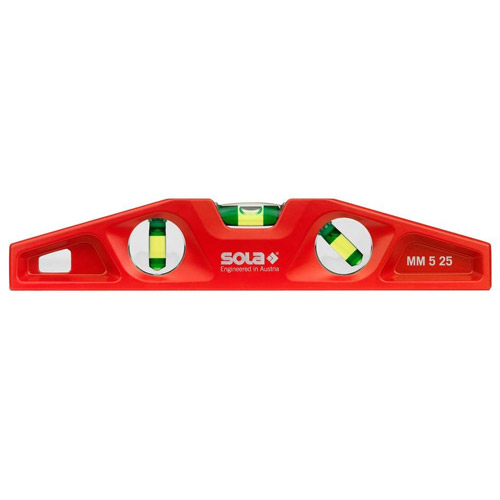 Sola Aluminum Magnetic Torpedo Level MM 5 25 MM525