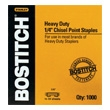 "Stanley Bostitch Heavy-Duty 1/4"" Staples (Box of 1000 Staples) SB35-1/4 ES2993"