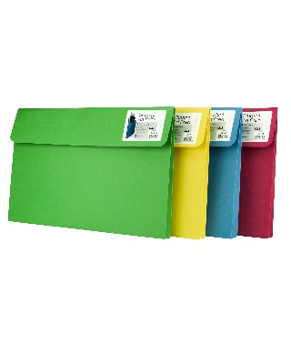 Star Products ST803 - 9.5 x 11.75 x 2 Student Art Folio - 5 Pack (4 Colors Available)