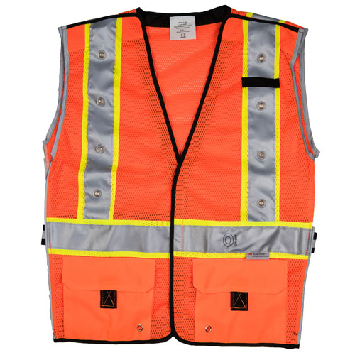 Stop-Lite LED High-Visibility Safety Vests - Orange (3 Sizes Available)