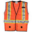 Stop-Lite LED High-Visibility Safety Vests - Orange (3 Sizes Available) ES9349