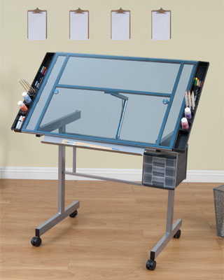 Studio Designs 10053 Vision Craft Station - (Silver / Blue Glass)