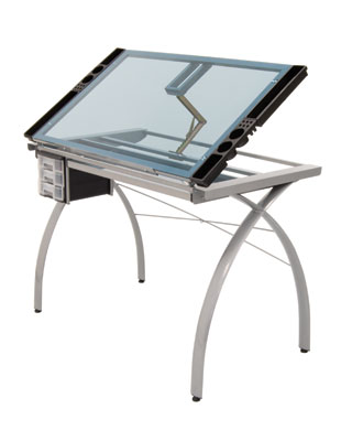 Studio Designs 10050 - Futura Craft Station (Silver-Blue Glass)