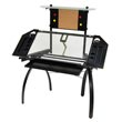 Studio Designs 10067 - Futura Tower Desk (Black - Clear Glass) ES6258