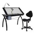 Studio Designs 10072 - Futura Craft Station (Black - Clear Glass) ES6260
