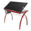 Studio Designs 10076 - Futura Craft Station (Red - Black Glass) ES6263