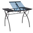 Studio Designs 10081 - Catalina Craft Table (Pewter - Blue Glass) ES6265
