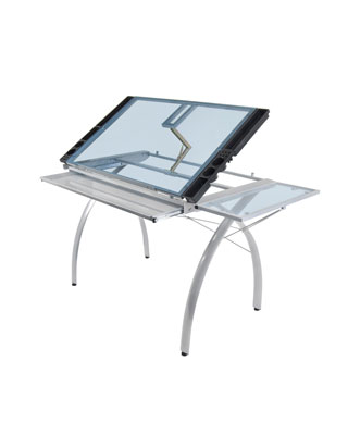 Studio Designs 10095 - Futura Craft Station with Folding Shelf (Silver - Blue)