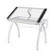 Studio Designs 10096 - Futura Craft Station with Folding Shelf (White - Clear) ES6268