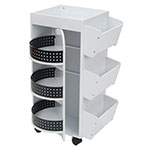 Studio Designs 4 Sided Swivel Art, Craft And Hobby Organizer Cart In White - 10220 ES6273