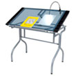 Studio Designs 13220 - Folding Craft Station - Silver - Blue Glass ES6331