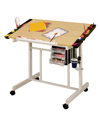 Studio Designs 13251 - Deluxe Craft Station in UPS Box (White - Maple)