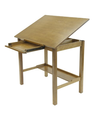 "Studio Designs Drafting Table 13253 - American 48"" x 36"" - Light Oak ES6339"