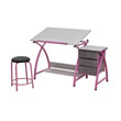 Studio Designs 13319 - Comet Center with Stool (Pink - Spatter Gray) ES6353