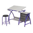 Studio Designs 13320 - Comet Center with Stool (Purple - Spatter Gray) ES6354
