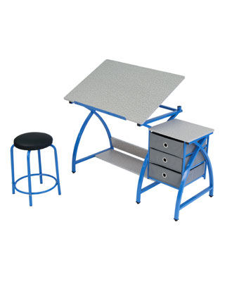 Studio Designs 13321 - Comet Center with Stool (Blue - Spatter Gray)