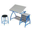 Studio Designs 13321 - Comet Center with Stool (Blue - Spatter Gray) ES6355
