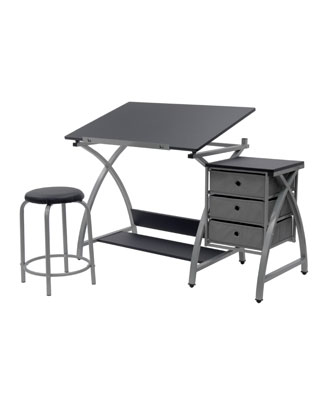 Studio Designs 13325 Comet Center With Stool Silver