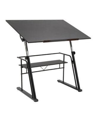 Studio Designs 13340 Zenith Drafting Table Black
