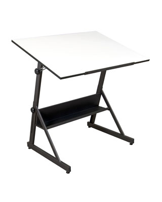 Studio Designs 13344   Solano Adjustable Drafting Table (Charcoal   White)