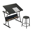 Studio Designs 13366 - Eclipse Table with Stool No Drawers - Black ES6365