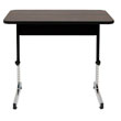 "Studio Designs 36""W x 20""D Adapta Height Adjustable Utility Office Table - Black and Walnut - 410379 ES6400"