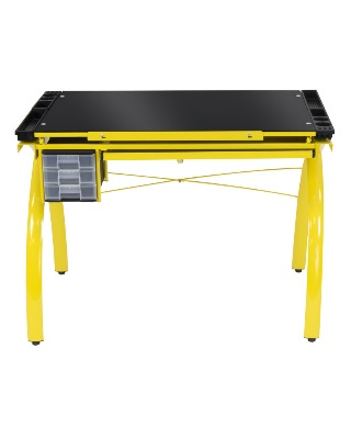 Studio Designs 10078 - Futura Craft Station (Yellow - Black Glass) ES6759