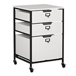 Studio Designs 3 Drawer Mobile Storage Organizer In Charcoal and White - 10223 ES8954