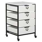 Studio Designs 4 Drawer Mobile Storage Organizer In Charcoal and White - 10224 ES8955